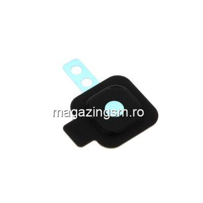 Ornament Camera Spate Cu Geam Samsung Galaxy J4 Plus J415 Negru