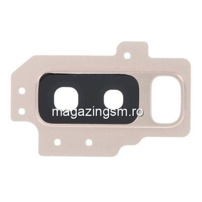 Ornament Camera Spate Cu Geam Samsung Galaxy S9 Plus G965 Auriu
