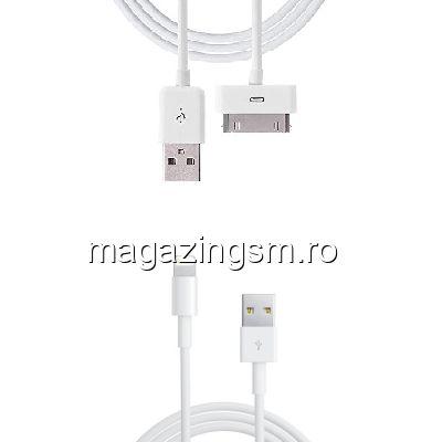 Pachet Cabluri Date Si Incarcare iPhone 4 4s 5 5s 5c SE 6 6s Plus 7 7 Plus (10 bucati)