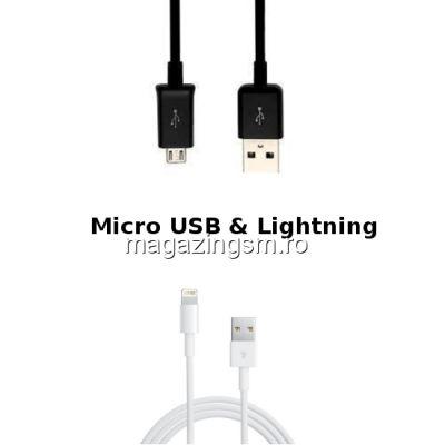 Pachet Cabluri Date Si Incarcare iPhone Si Micro USB (10 bucati)