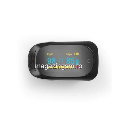Pulsometru/ oximetru cu afisaj digital, pentru masurarea pulsului si a saturatiei de oxigen din sange, portabil