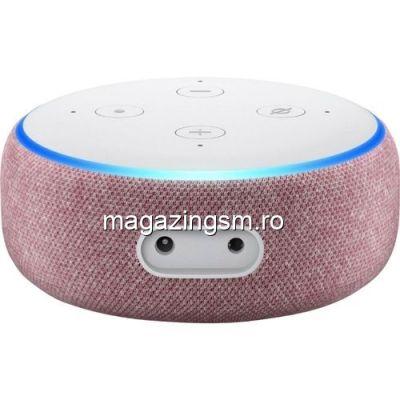 Resigilat Boxa Amazon Echo Dot 3, Alexa, Rosu