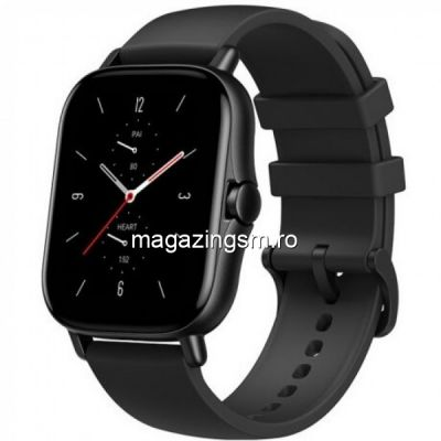 Smartwatch Amazfit GTS 2, Bluetooth 5.0, Waterproof 5 ATM, senzor SpO2 (Negru)