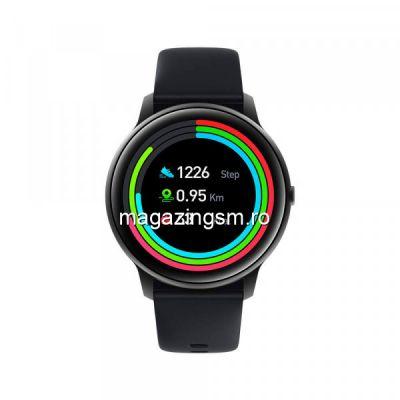 Smartwatch Xiaomi IMILAB KW66, ecran curbat 3D, Negru