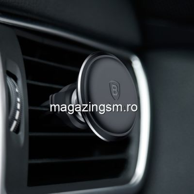 Suport Auto Magnetic Samsung Galaxy S10 Rotire 360 Grade Pentru Ventilatie BASEUS Negru