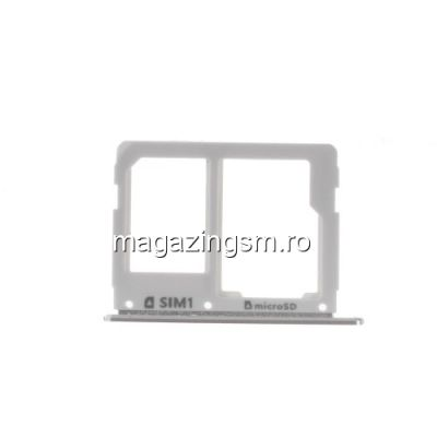Suport Sim Si Card Samsung Galaxy A3 A310/A5 A510/A7 A710 Original Argintiu