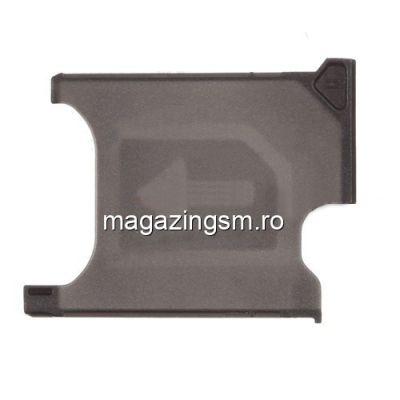 Suport Sim Sony Xperia Z1 L39h C6903 C6906 C6943 C6902 Honami Original Negru