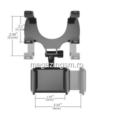 Suport Telefon Auto Pentru Oglinda Retrovizoare Huawei Mate 20 Negru