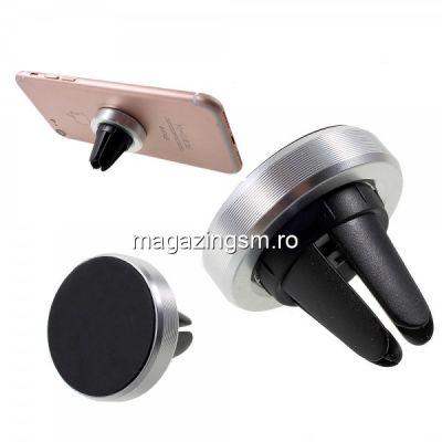 Suport Telefon Auto Samsung Huawei LG iPhone Magnetic Argintiu
