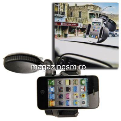 Suport Telefon Auto Universal iPhone 6 Plus Cu Rotatie 360 Grade, 50-70 mm Negru
