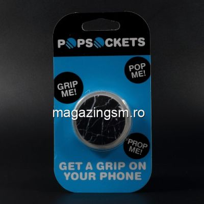 Suport Telefon iPhone 8 Stand Finger Grip Universal Neagru