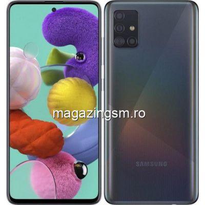 Telefon mobil Samsung Galaxy A51, Dual SIM, 128GB, 4GB RAM, 4G, Prism Black IMEI: 351017185052759