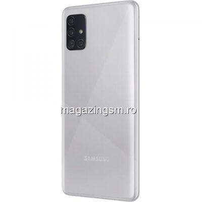 Telefon mobil Samsung Galaxy A51, Dual SIM, 128GB, 4GB RAM, 4G, Prism Silver