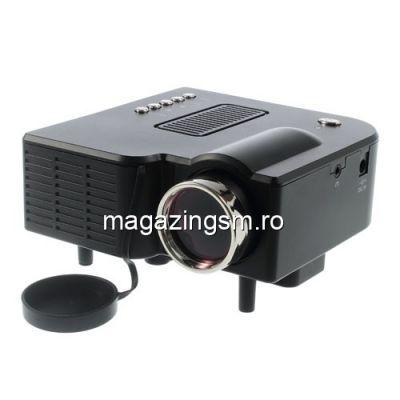 Videoproiector LED HDMI Negru