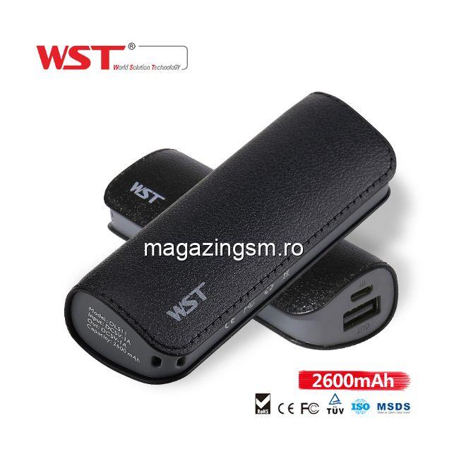 Acumulator Extern Samsung iPhone HTC Nokia LG Huawei Allview Power Bank 2600mAh WST Negru