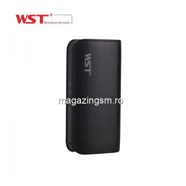 Acumulator Extern Samsung iPhone HTC Nokia LG Huawei Allview Power Bank 5200mAh WST Negru