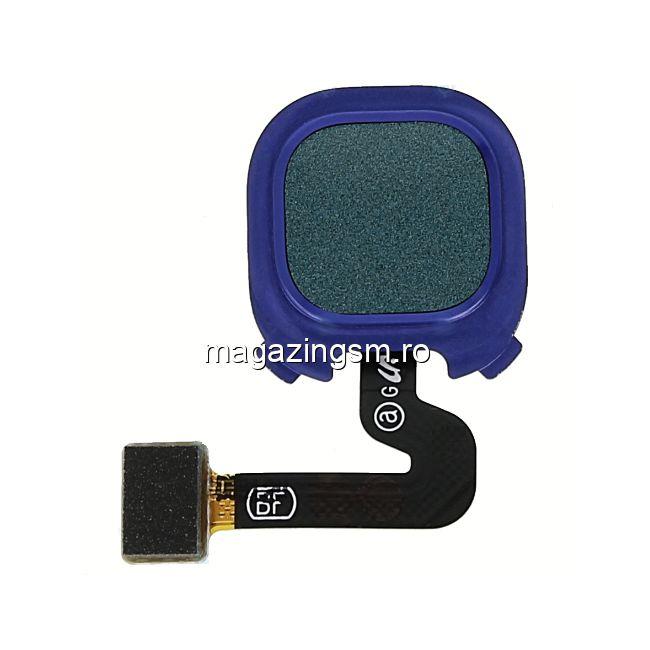 Banda Flex Senzor Amprenta Samsung Galaxy A9 2018 Originala Albastra