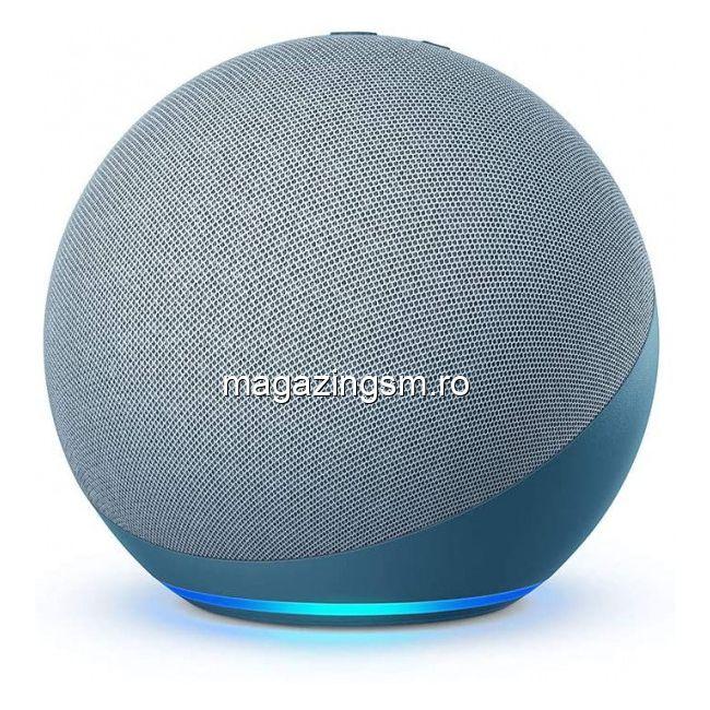 Boxa inteligenta Amazon Echo, generatia 4a Cu sunet premium, hub inteligent pentru casa si Alexa, Albastru