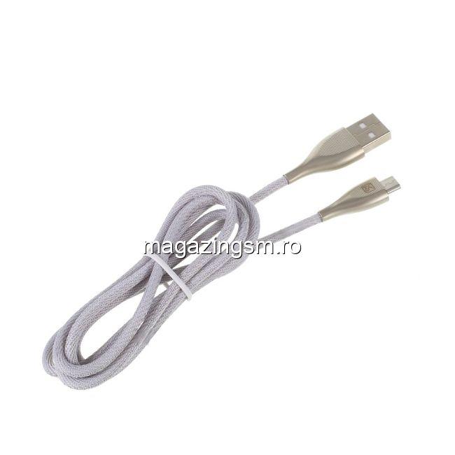 Cablu Date Si Incarcare Samsung Nokia Huawei LG Micro USB Textil Gri
