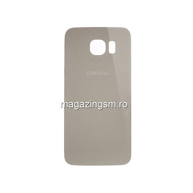 16fa78d0a63 Capac Baterie Spate Samsung Galaxy S6 G920 Cu Adeziv Sticker Auriu Pret
