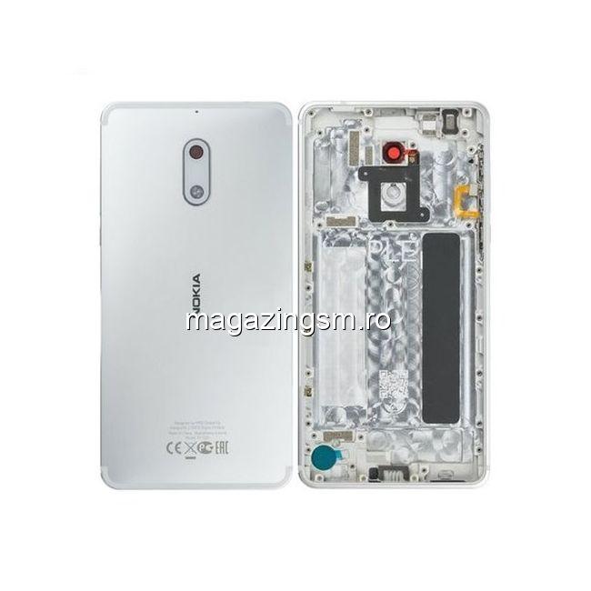Carcasa Nokia 6 Originala Argintie