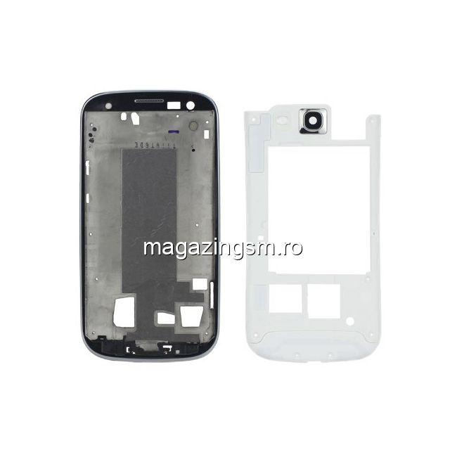 40fc31f2cb1 Carcasa Samsung I9300 Galaxy S3 Corp Mijloc Si Fata Originala Alba Pret