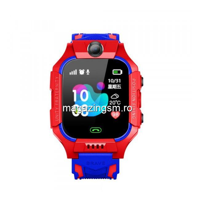 Ceas Smartwatch Pentru Copii Cu Camera Video Rosu
