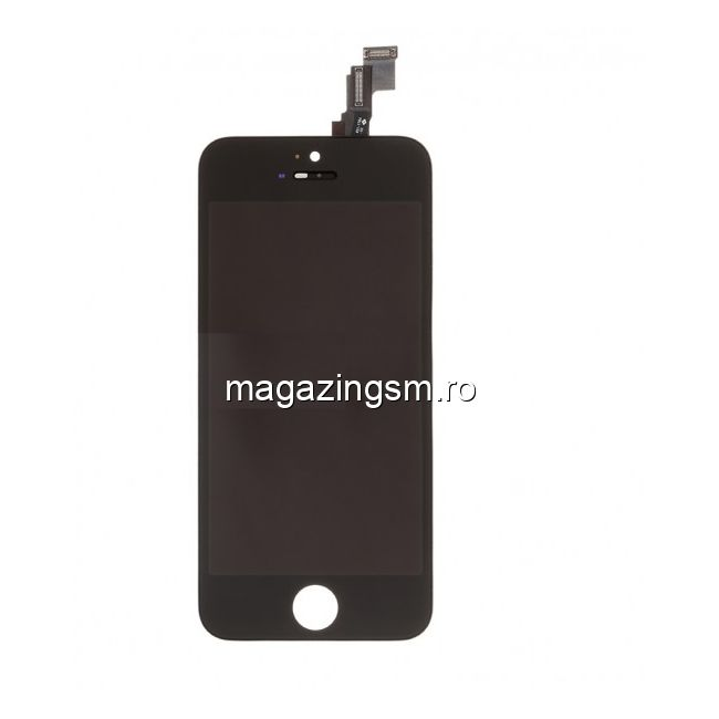 Display iPhone 5s Cu Touchscreen Si Geam Negru