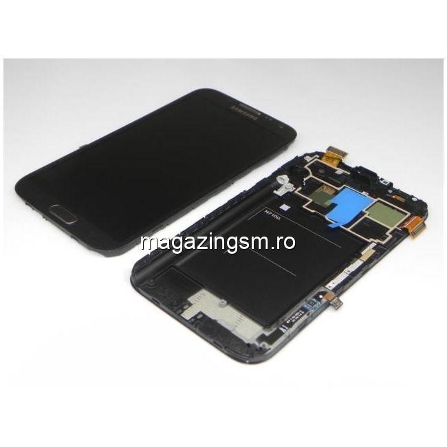 Display Cu Touchscreen Samsung Galaxy Note II N7100 Original Negru