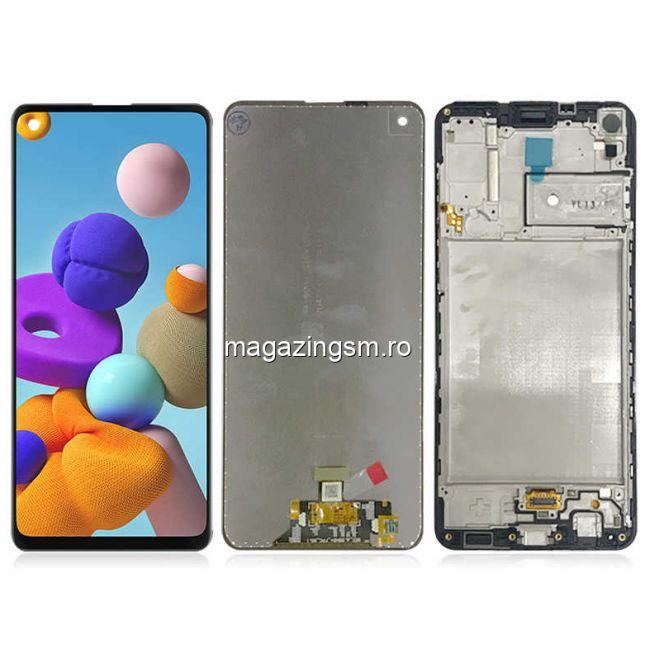 Display Samsung A21s (A217) Cu Touchscreen si Rama Original Negru