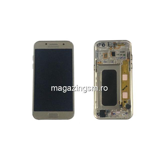 Display Samsung Galaxy A3 A320 Original Complet Cu Rama SWAP Auriu