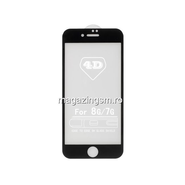 Folie Sticla iPhone 8 Acoperire Completa Neagra