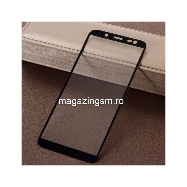 Geam Protectie Display Samsung Galaxy J6 J600 2018 Acoperire Completa 5D Negru