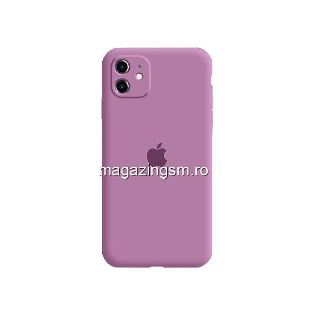 Husa iPhone 11 Silicon Cu Protectie Camera Purple