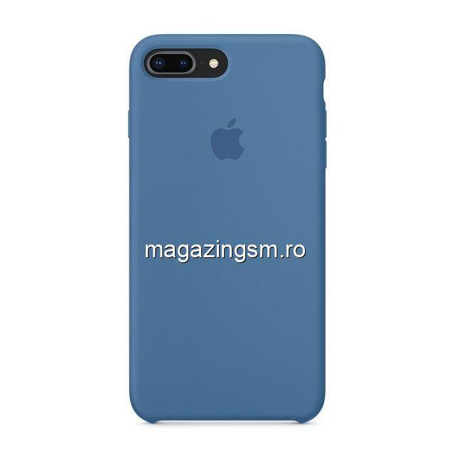 Husa iPhone 7 Plus / 8 Plus Silicon Denim Blue