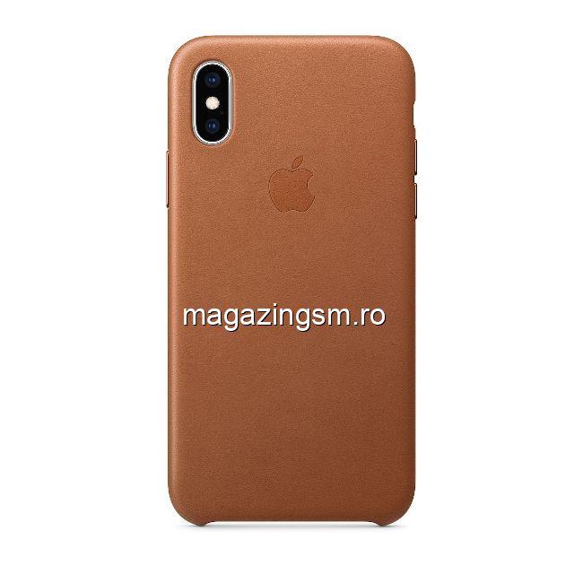Husa iPhone X / XS Piele Saddle Brown