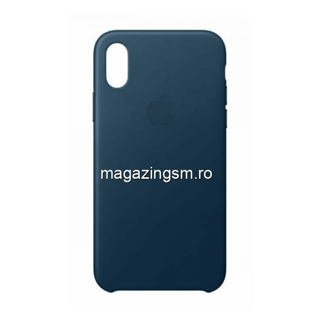 Husa iPhone XR Piele Cosmos Blue