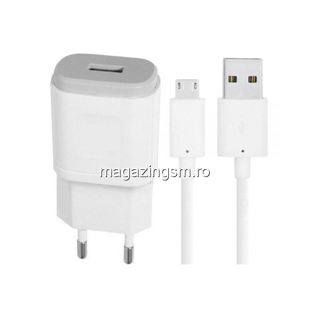 5b215b0d4df Incarcator 2A Cu Cablu MicroUSB FAST CHARGER Alb In Blister Pret