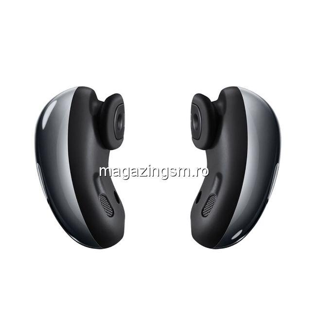 RESIGILAT Casti Wireless Bluetooth Samsung Galaxy Buds Live SM-R180 Mystic Black