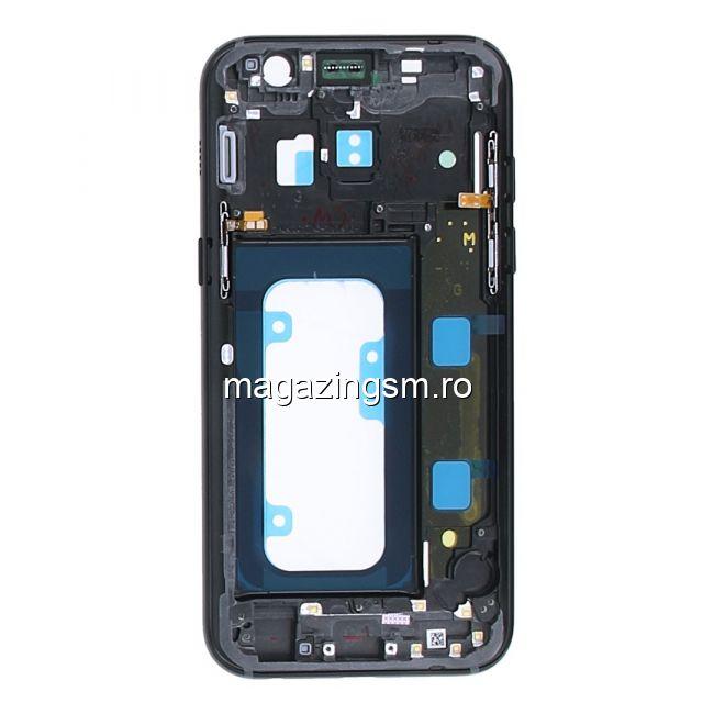 Sasiu Carcasa Mijloc Samsung Galaxy A3 A320 2017 Original Negru