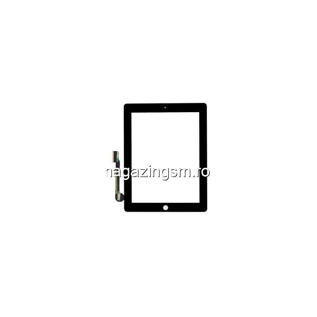 Geam Cu Touchscreen iPad 4 Wi-Fi + 4G Negru