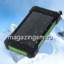 Acumulator Extern iPhone Samsung HTC LG Sony Dual USB 10000mAh Cu Incarcare Energie Solara