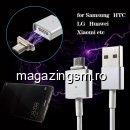 Cablu Incarcare Samsung LG Sony Huawei Magnetic Alb