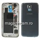 Carcasa Corp Mijloc Samsung Galaxy S5 G900 Cu Capac Baterie Spate Originala Gri