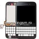 Carcasa Fata Rama Cu Display Si Touchscreen BlackBerry Q5 Negru
