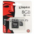 Card De Memorie Kingston Micro SDHC Card 8GB + Adapter