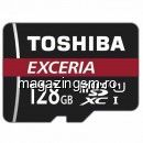 Card Memorie Toshiba Exceria MicroSDHC 128 GB Clasa 10 + Adaptor SD