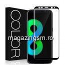 Geam Folie Sticla Protectie Display Samsung Galaxy S8 Plus 4D Negru