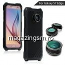 Husa Cu Lentile Zoom Camera Samsung Galaxy S7 edge G935 VIKING Series Neagra