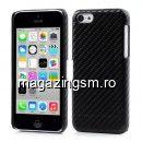 Husa Dura iPhone 5C Fibre De Carbon Neagra